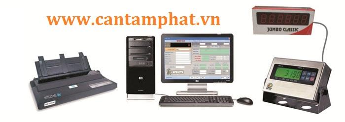 Cân điện tử kết nối với máy tính giúp người dùng thống kê hàng hóa, quản lý nhân viên